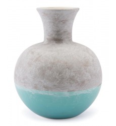 Azte Md Vase Gray & Teal (A10303)