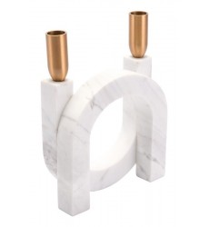 Circular Candle Holder Matte White (A10315)