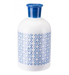 Bottle Lg Steel Blue & White (A10389)