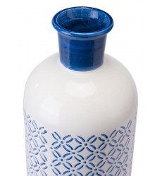 Bottle Sm Steel Blue & White (A10390)