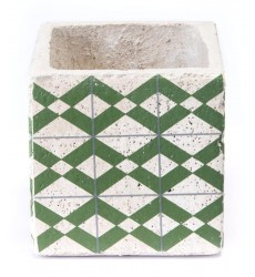 Cement Tribal Planter Green (A10410)