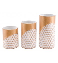 Honeycomb Set Of 3 Candle Holders Gold (A10634)