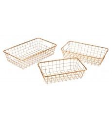 Set Of 3 Baskets Gold (A10644) - Zuo Modern