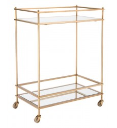 Mirrored Gold Bar Cart Gold (A10793)