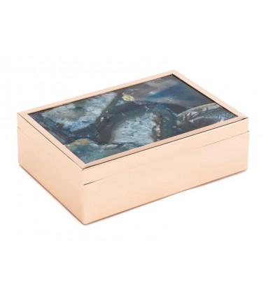 Blue Stone Box Lg Blue (A10926)