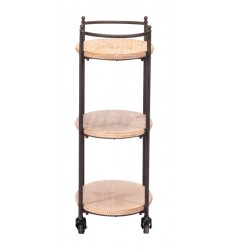 Tri Level Bar Cart Brown (A10992)