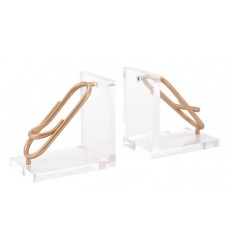 Clips Bookends Gold (A11003) - Zuo Modern