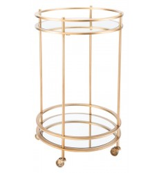 Round Bar Cart Gold (A11087)