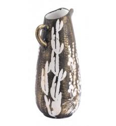 Jaci Small Jar Antique Gold & White (A11395) - Zuo Modern