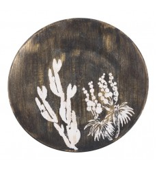 Jaci Large Plate Antique Gold & White (A11396) - Zuo Modern