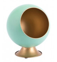 Round Small Metal Planter Green (A11520)