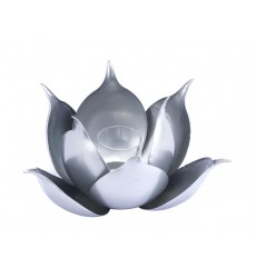 Lotus Candle Holder Silver (A11553)