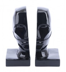 Face Bookends  Black (A11596)