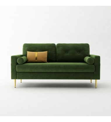 Sofa-In-A-Box Velvet Sofa Shamrock Green (QH-8092A38 GREEN)