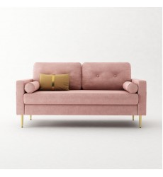 Sofa-In-A-Box Velvet Sofa Pink (QH-8092A38 PINK)