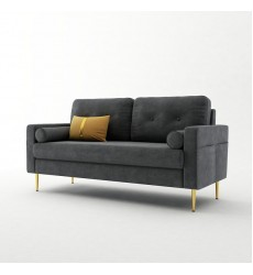 Sofa-In-A-Box Velvet Sofa Dark Grey (QH-8092A38 DARK GREY)