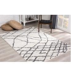 Sunshine - 5x5 Comfort 3976 White Grey Round Rug