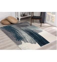 Sunshine - 5x5 Comfort 4223 Blue Grey White Round Rug