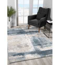Sunshine - 2x5 Arctic 6898 Cream Blue Rectangle Rug