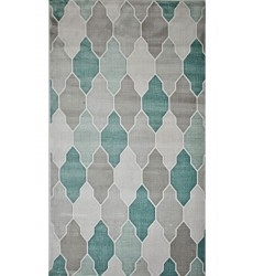 Sunshine - 2x8 Avellino 8191 Grey Blue Rectangle Rug