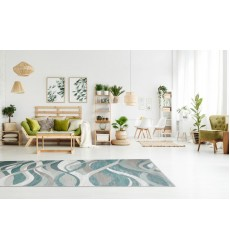 Sunshine - 2x8 Avellino 8190 Grey Blue Rectangle Rug