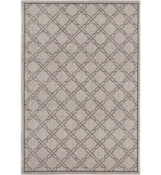 Sunshine - 3x5 Velit 4125 Grey Rectangle Indoor / Outdoor Rug