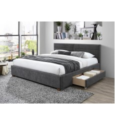 Emilio-78'' Bed-Charcoal (101-633K-CH) - Worldwide HomeFurnishings