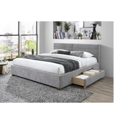 Emilio-78'' Bed-Light Grey (101-633K-LG) - Worldwide HomeFurnishings