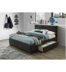 Emilio-60'' Platform Bed-Charcoal (101-633Q-CH) - Worldwide HomeFurnishings