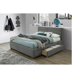 Emilio-60'' Platform Bed-Light Grey (101-633Q-LG) - Worldwide HomeFurnishings