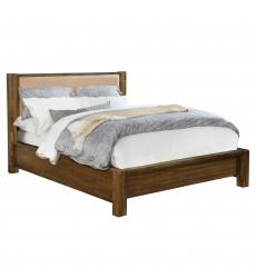 Domingo-60'' Platform Bed-Walnut (101-655Q-UP) - Worldwide HomeFurnishings