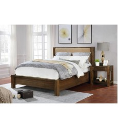 Domingo-60'' Platform Bed-Walnut (101-655Q-UP) - Worldwide HomeFurnishings