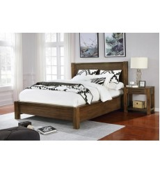 Domingo-60'' Platform Bed-Walnut (101-655Q-WD) - Worldwide HomeFurnishings