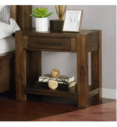 Domingo-1Drwr Night Table-Walnut (102-655) - Worldwide HomeFurnishings