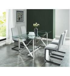Lorenzo-Dining Table-Silver (201-521CH) - Worldwide HomeFurnishings