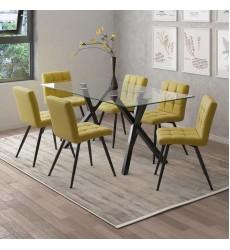 Stark-Dining Table-Black (201-535BK) - Worldwide HomeFurnishings
