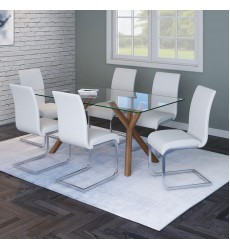Stark-Dining Table-Walnut (201-535WAL) - Worldwide HomeFurnishings