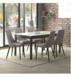 Pascal-Dining Table-Grey (201-548GY) - Worldwide HomeFurnishings