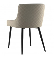 Bianca-Side Chair-Beige/Black Leg (202-086BG/BK) Side Chair, Set Of 2 - Worldwide HomeFurnishings