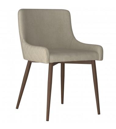 Bianca-Side Chair-Beige/Walnut Leg (202-086BG/WAL) Side Chair - Worldwide HomeFurnishings