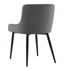 Bianca-Side Chair-Grey/Black Leg (202-086GY/BK) Side Chair, Set Of 2 - Worldwide HomeFurnishings