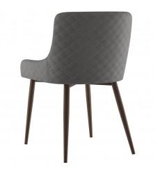 Bianca-Side Chair-Grey/Walnut Leg (202-086GY/WAL) Side Chair - Worldwide HomeFurnishings
