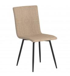 Nora-Side Chair-Beige/Bk Leg (202-538BEG/BK) Side Chair - Worldwide HomeFurnishings