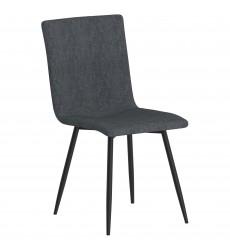 Nora-Side Chair-Blue Grey/Bk Leg (202-538BLU/BK) Side Chair - Worldwide HomeFurnishings