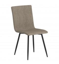 Nora-Side Chair-Grey/Bk Leg (202-538GRY/BK) Side Chair - Worldwide HomeFurnishings