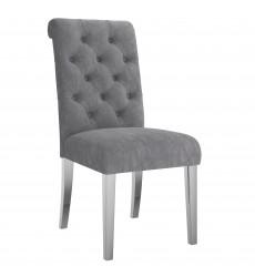 Chloe-Side Chair-Grey (202-552GY) Side Chair - Worldwide HomeFurnishings