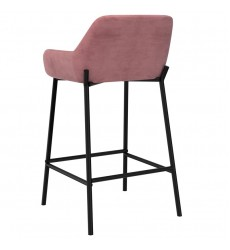 Baily-26'' Counter Stool-Dusty Rose (203-541DRS) 26'' Counter Stool - Worldwide HomeFurnishings