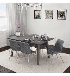 Ashland/Cooper Grey-7Pc Dining Set (207-311GY/383GY)