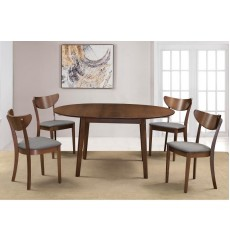 Alero Rnd/Lira Grey-5Pc Dining Set (207-695RD/611GY)