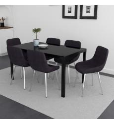 Contra Bk/Cassidy Bk-7Pc Dining Set (207-843BK/330BK) - Worldwide HomeFurnishings